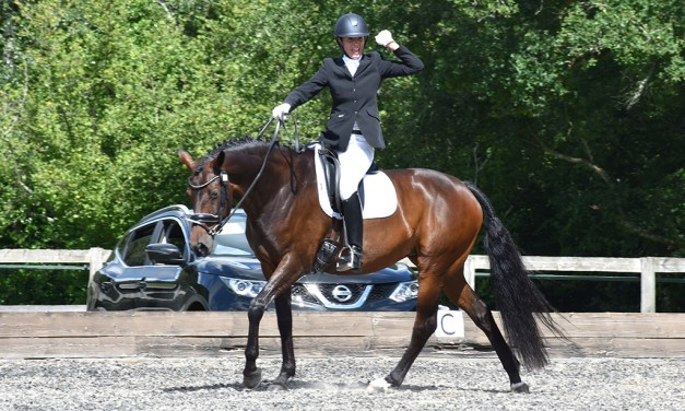 Enthusiasm for dressage sport burned brightly at Lindsey's party