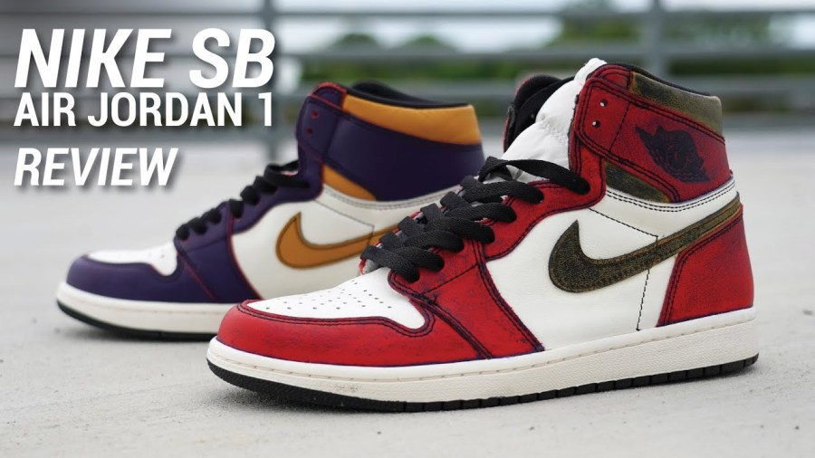 new styles d2752 f3500 5 13 19 O A NYC WITH WaleStylez FASHION  Nike SB Air Jordan 1 Lakers Review    Wiping OFF Paint!