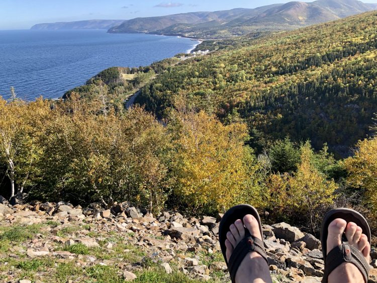 Amazing views while driving the Cabot Trail