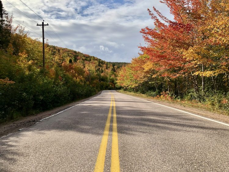 Driving the Cabot Trail with fall colours
