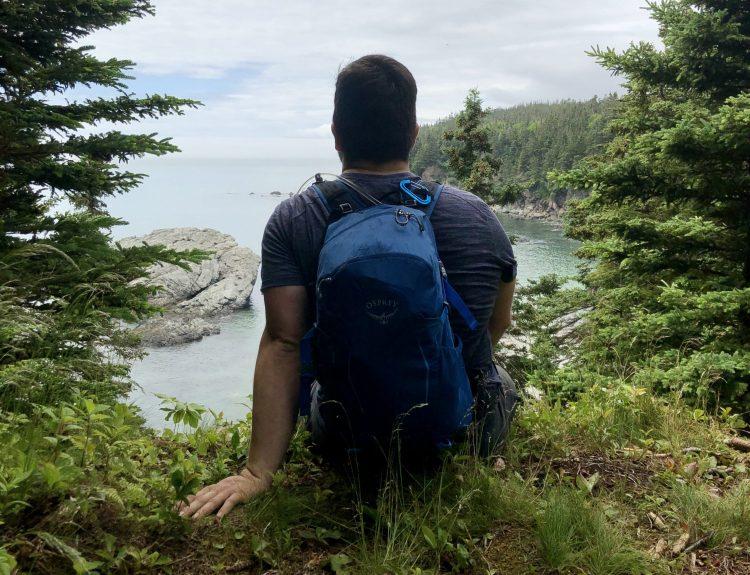 Split Rock trail in New Brunswick, Canada
