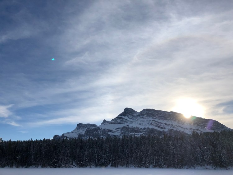 Johnson Lake in winter
