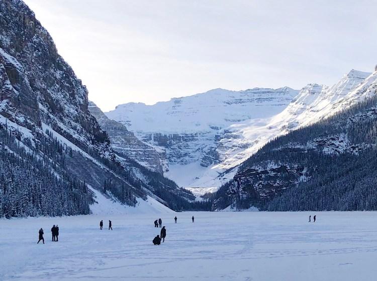 Frozen Lake Louise in the winter