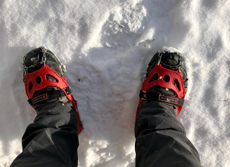 Crampons are essential winter hiking gear