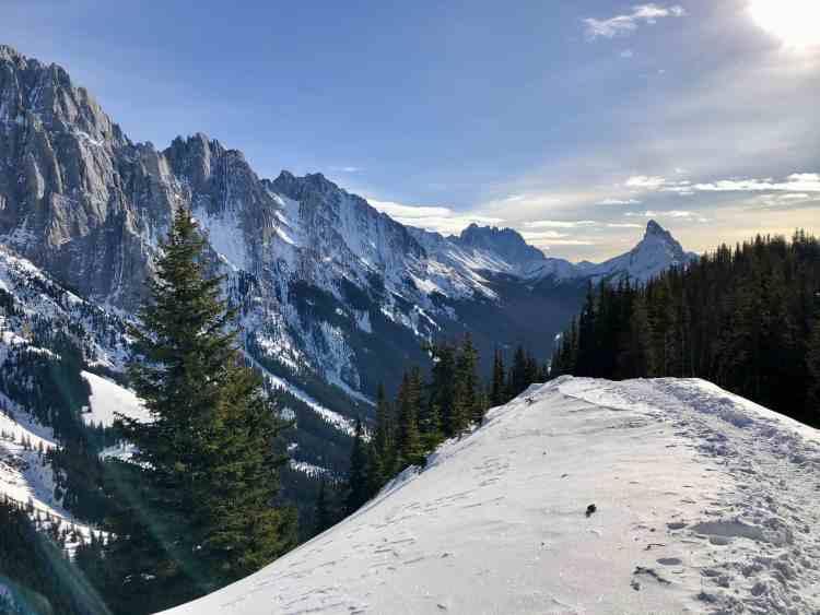 King Creek Ridge trail in winter