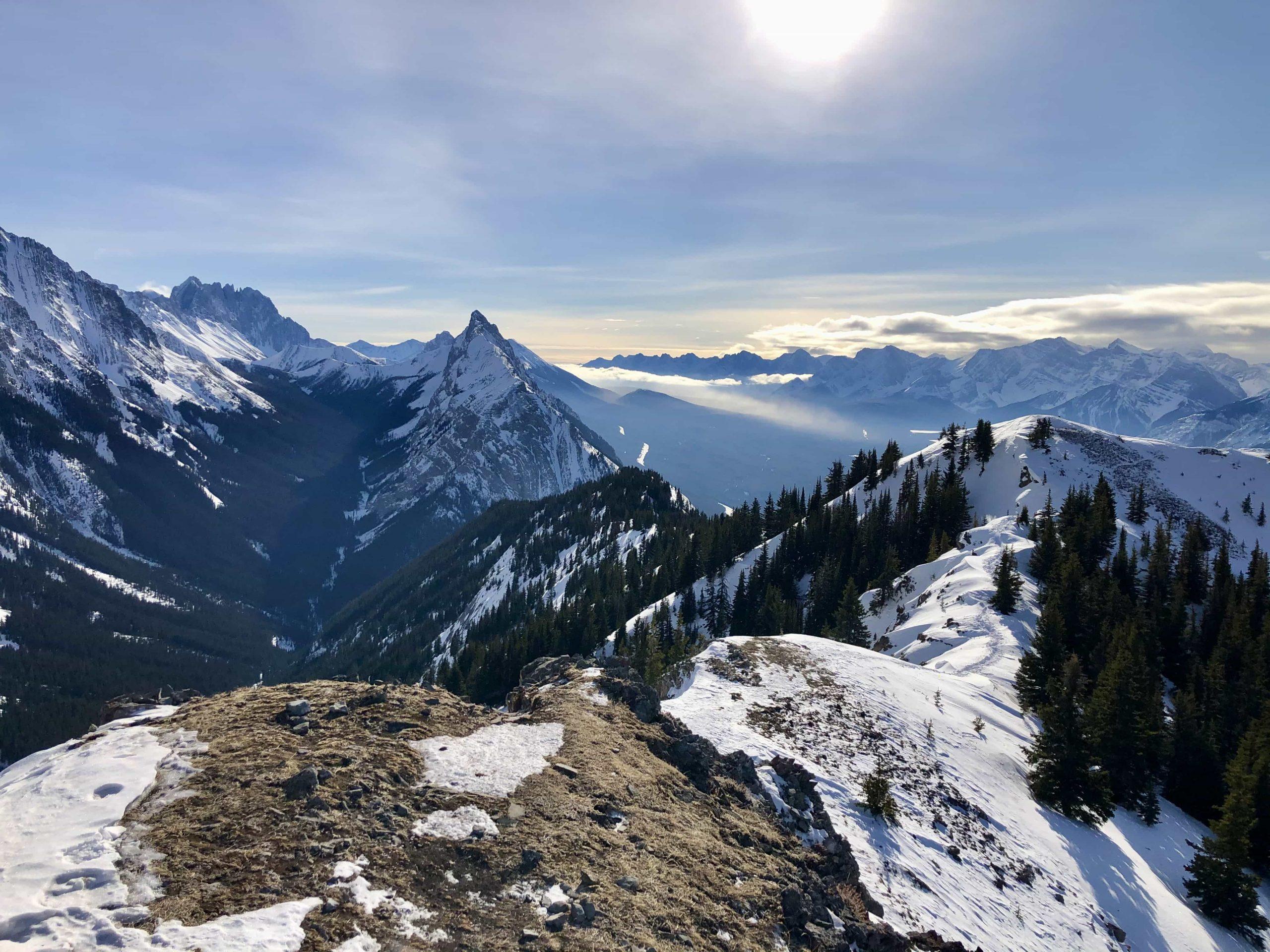 The King Creek Ridge Hike in Alberta—Great Winter Summit via @outandacross