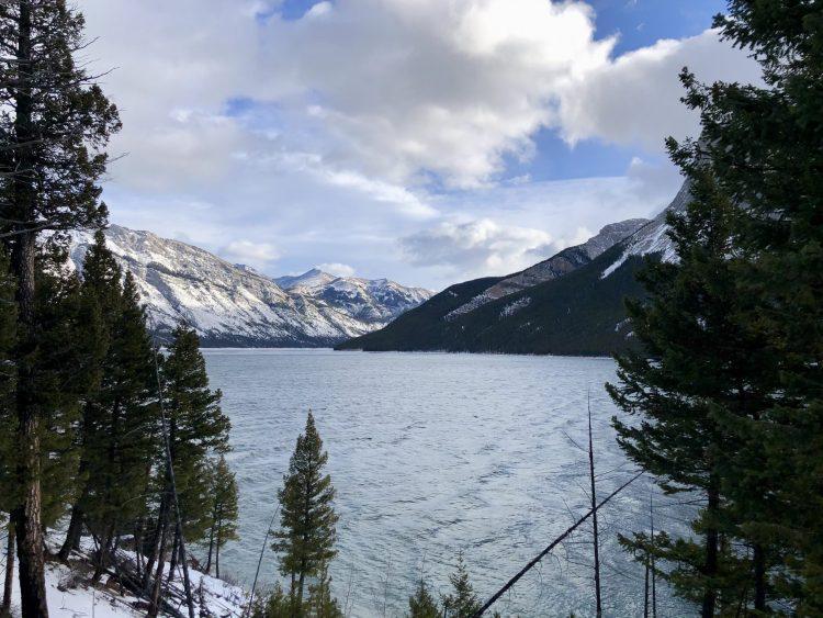 Stunning mountain views hiking along the Lake Minnewanka trail