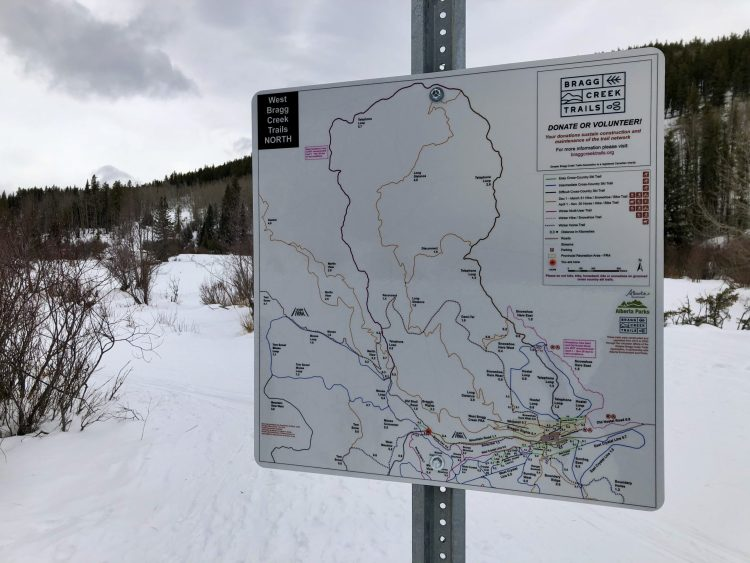 West Bragg Creek trails map