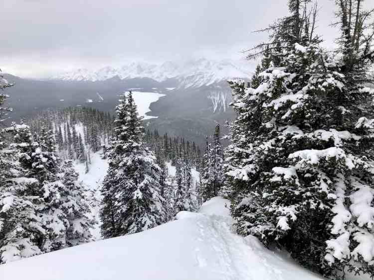 South Lawson Peak winter hike in Alberta