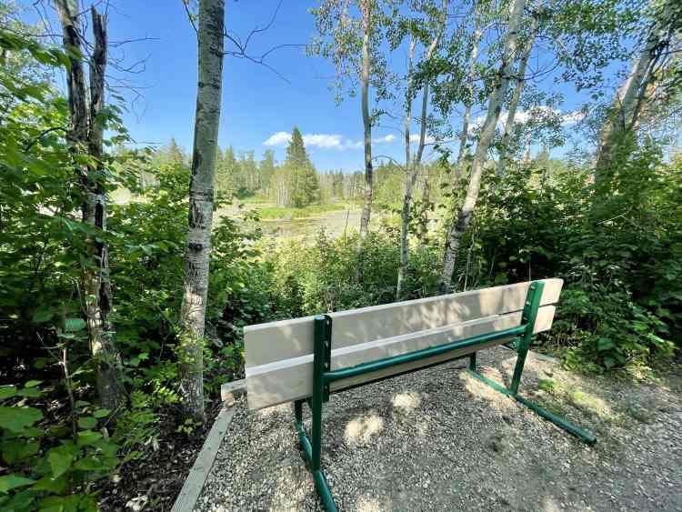 Elk Island hike bench