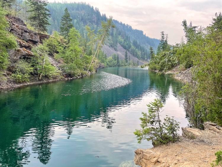 Silver Spring Lake deep blue waters