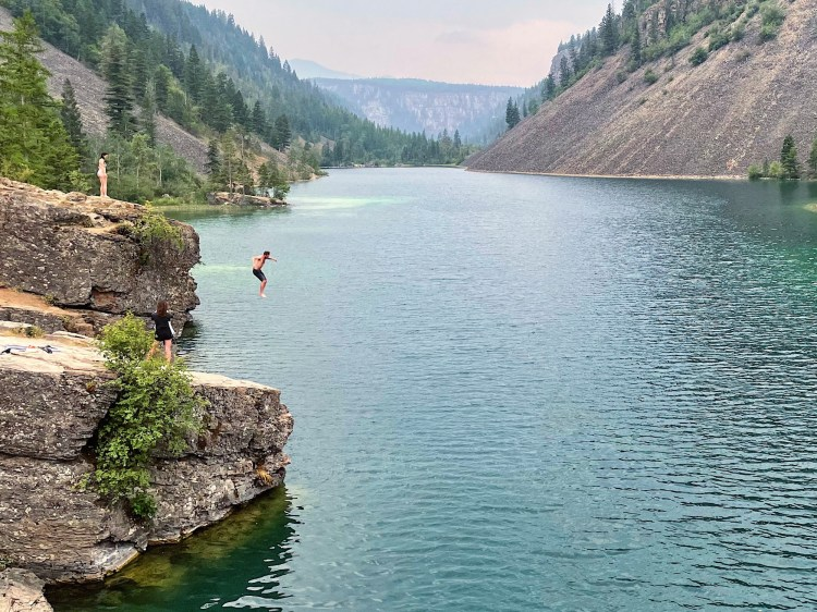 Silver Spring Lake cliff jumping