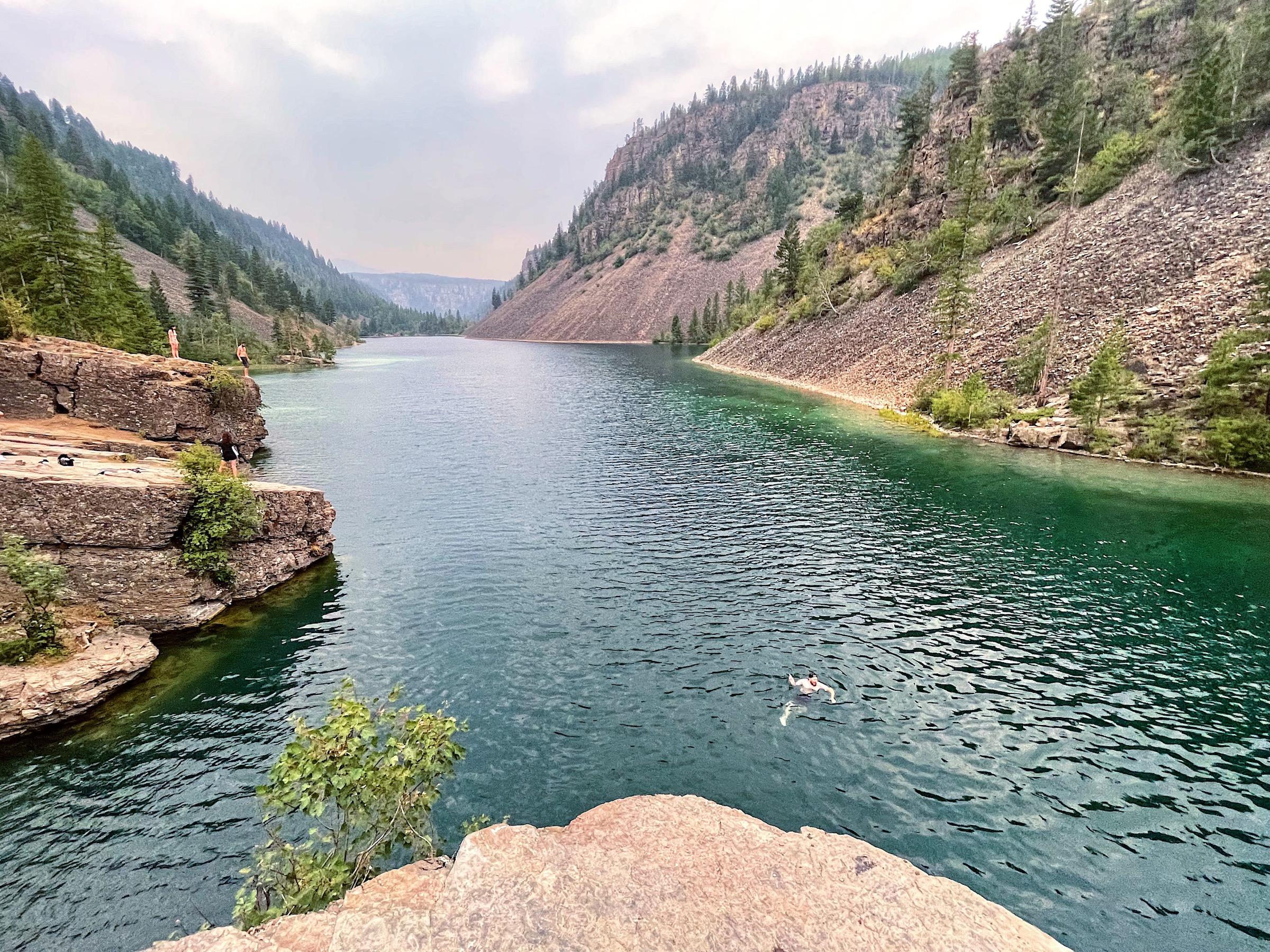 Silver Spring Lake—The Best Cliff Jumping Near Fernie, BC via @outandacross