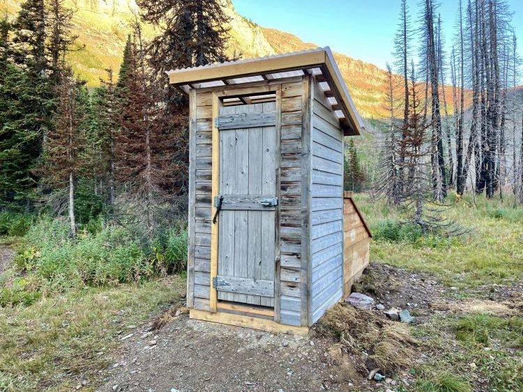 Goat Lake hike outhouse