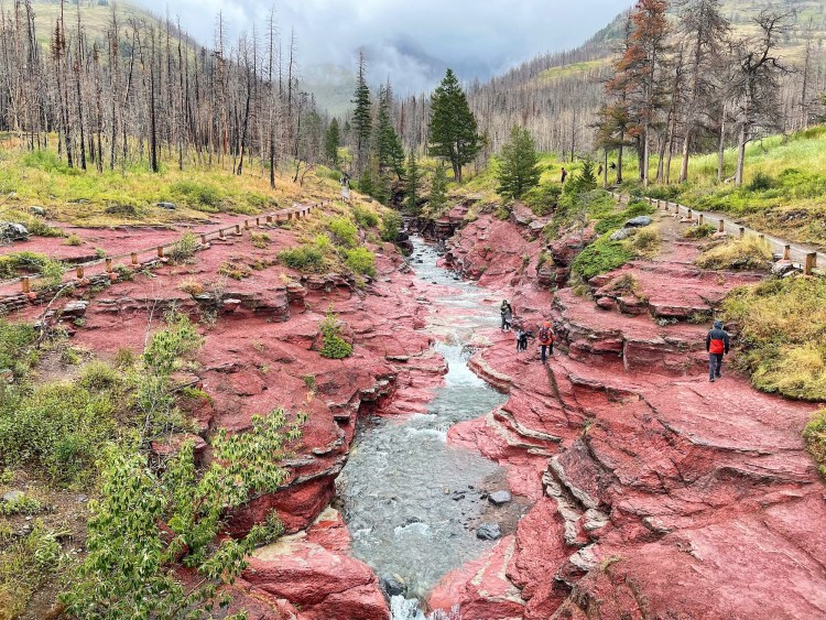 Red Rock Canyon in Waterton