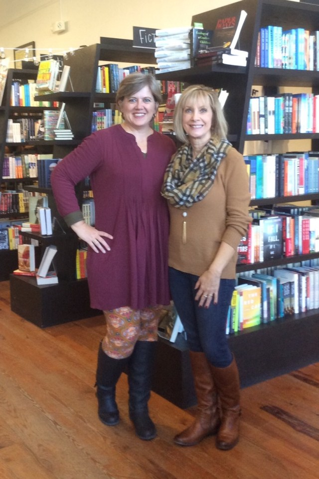 Susie and me in The Book Shelf! I love this book store! It's owned and run by Susie's daughter, Annie.