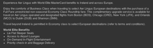 Aer Lingus is very clear about their policy