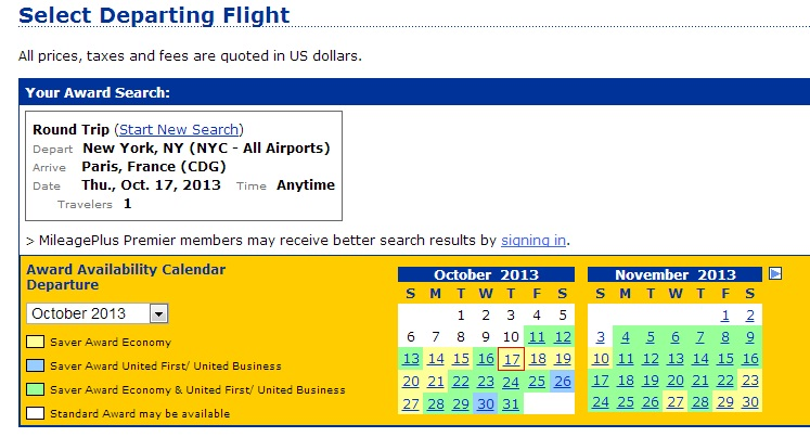 Yellow and green means lots of space on United + partners!