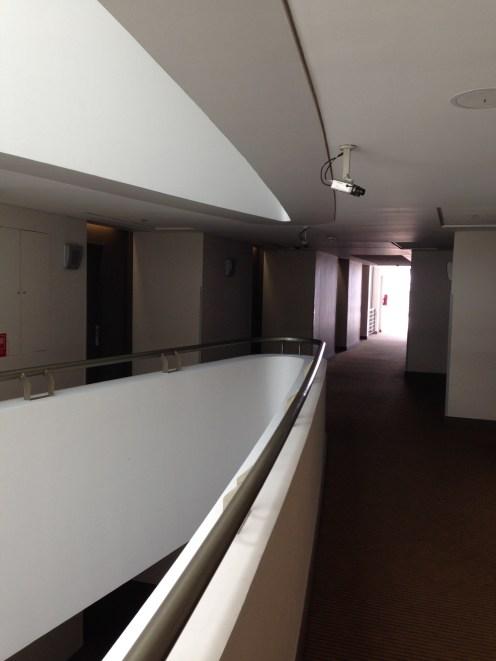 Hallway to the room, next to the atrium