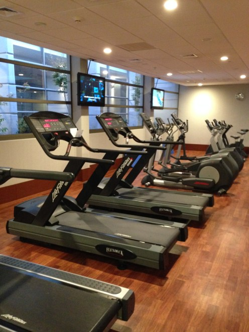 """Small """"gym"""" with treadmills"""