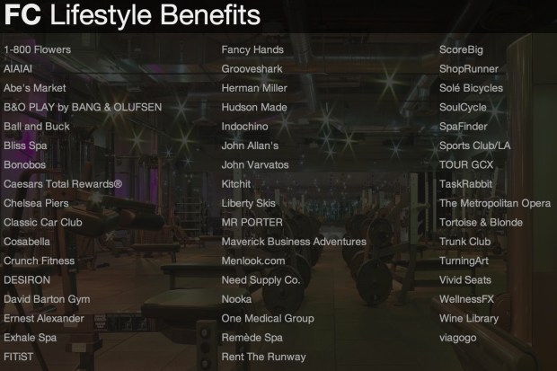 Lifestyle benefits