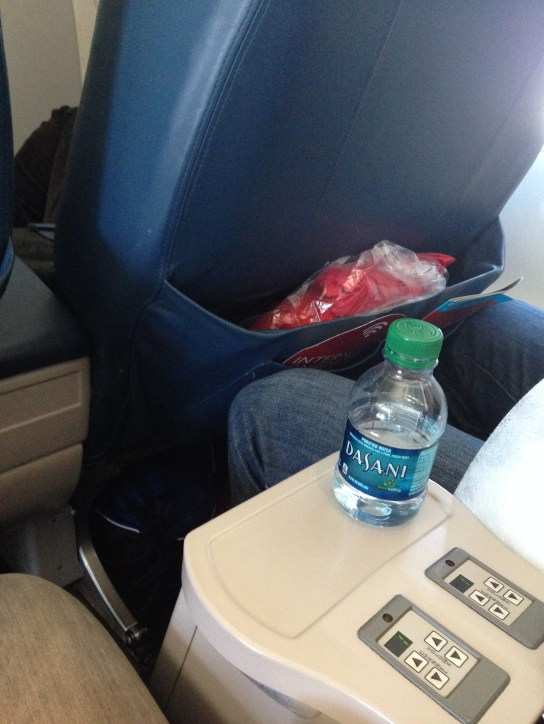 Water at the seat, and the blanket