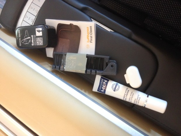 Lufthansa First Class amenity contents