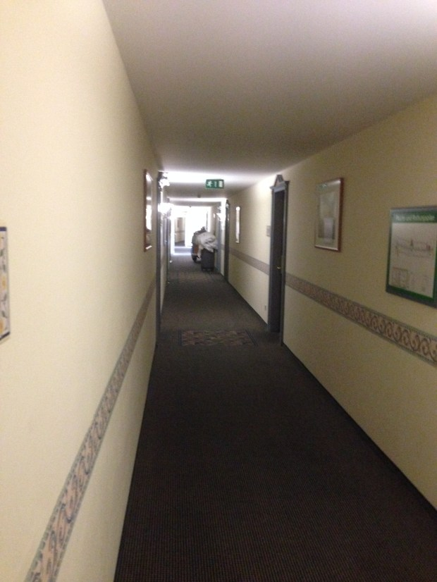 The hallway to room 308