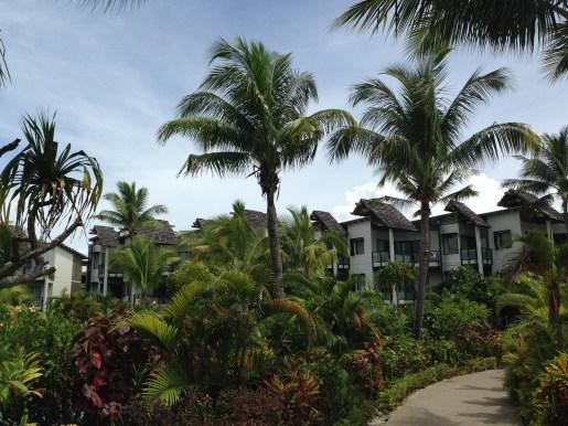 Walking the grounds at the Radisson Blu Fiji Resort