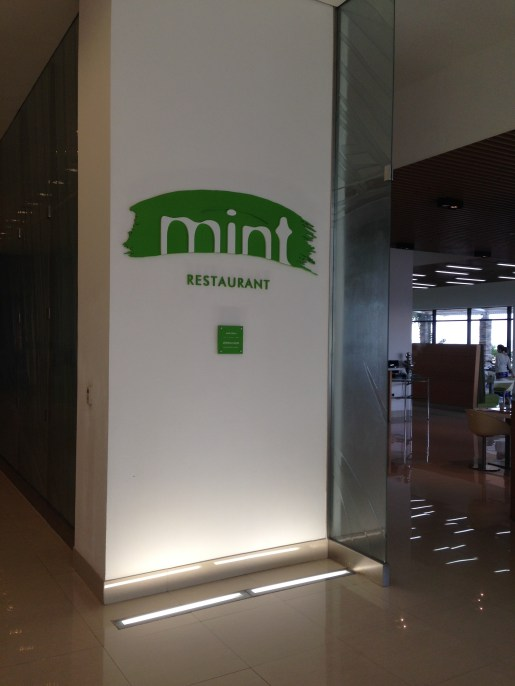 Entrance to Mint Restaurant