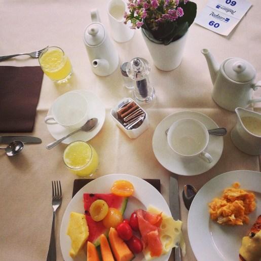 My breakfast selections
