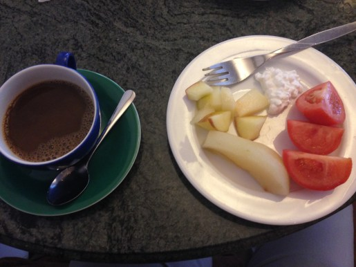 My breakfast selections, day 2