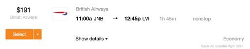 4,500 Avios beats $191