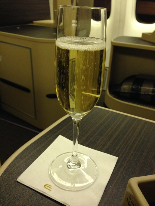 Pre-departure champagne for your thoughts?