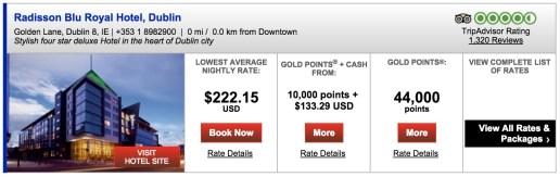 Radisson Blu Royal Dublin pricing