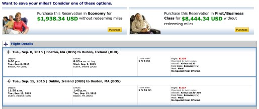 Chosen at random, but flights on these dates would be