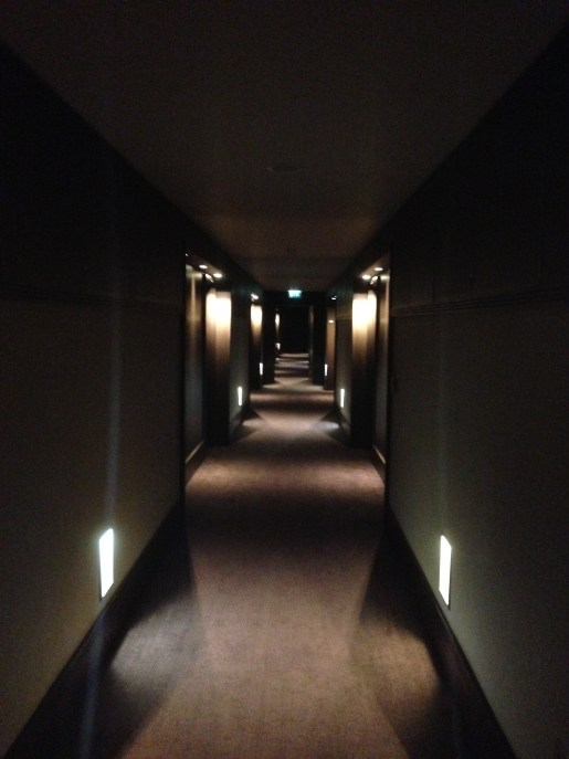 Hallway leading to Room 218