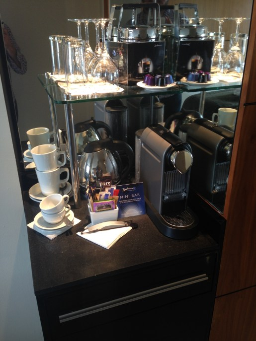 Nespresso Machine – a very nice touch!