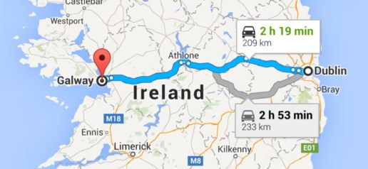 A pretty straightforward drive across Ireland's midsection