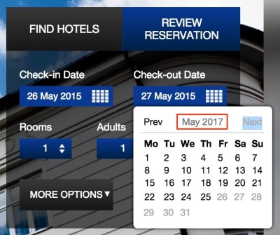 Some hotels are bookable for nearly 2 years out - burn now!