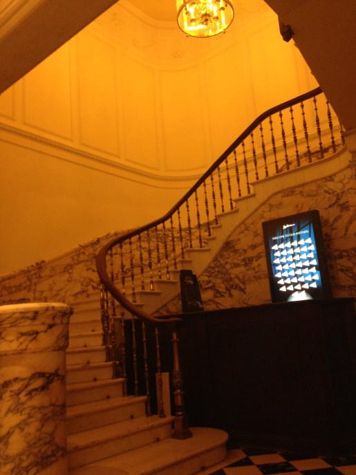 Huge marble staircases