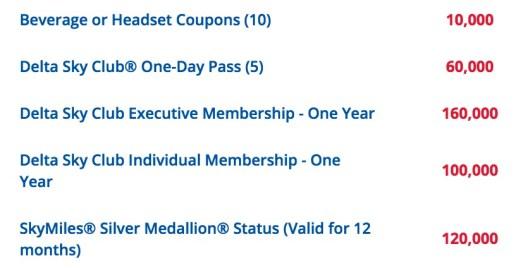 SkyClub membership is 100,000 SkyBonus points