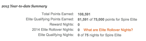 All points earned from the Chase IHG Visa, including the sign-up bonus, counts toward Spire status
