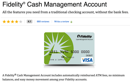 Fidelity Cash Management Account review