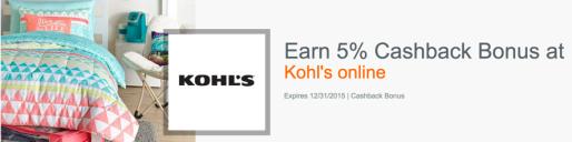 5% back at Kohl's