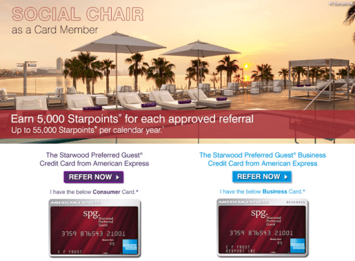 Refer the SPG AMEX to your inner circle and earn 5,000 Starpoints per