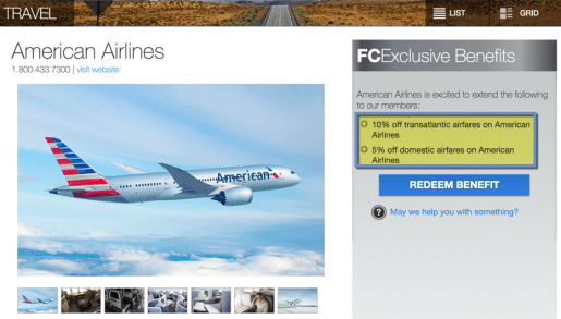 10% off transatlantic fares is a new benny!