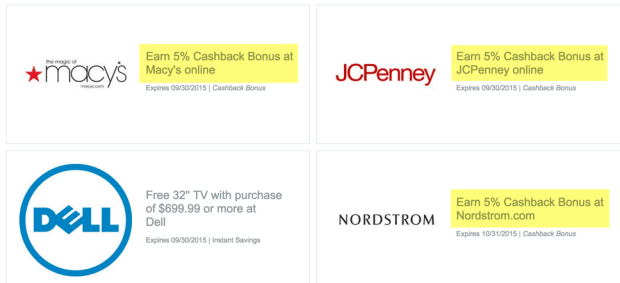 The cashback at Discover Deals goes as high as 10%