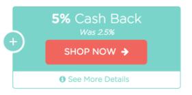 5%. Cash. Back.