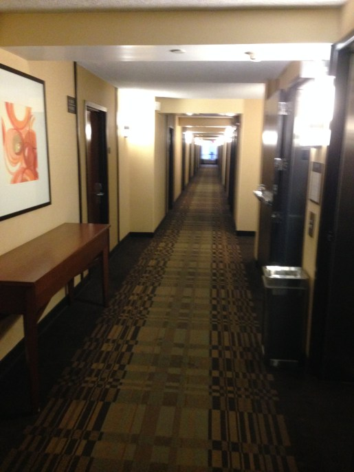 Hallways of the Hyatt Place Austin/Aboretum